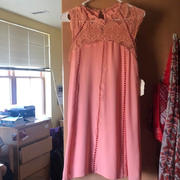 Altar'd State Dresses & Skirts - Altard State High neck Peach Dress
